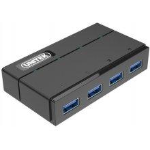 Unitek Hub 4x USB 3.0 + laadimine function;...