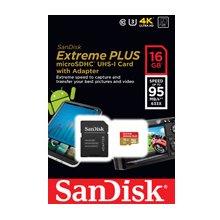 Флешка SanDisk MicroSDHC 95MB/s 16GB Extreme...