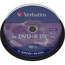 Диски Verbatim DVD+R 8,5GB 10 Spindel