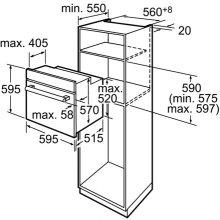 Ahi BOSCH Oven HBA43T350 60 CM Electric INOX