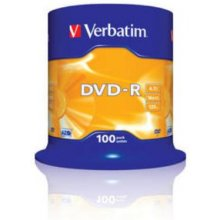 Диски Verbatim 1x100 DVD-R 4,7GB 16x Speed...