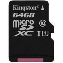 Флешка KINGSTON 64GB microSDXC Class 10...
