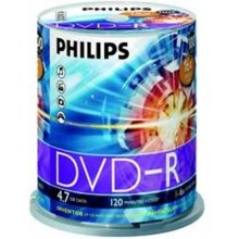 Диски Philips DVD-R 4,7GB 100pcs spindel 16x