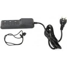 OMEGA USB laadija pere 6-port, must (42092)