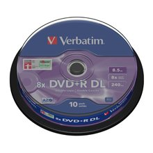 Диски Verbatim DVD+R DL 8.5GB 8X 10er...