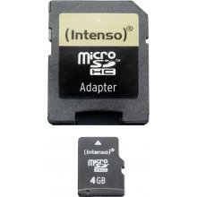 Флешка INTENSO SD MicroSD Card 4GB inkl. SD...