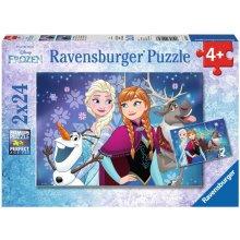 RAVENSBURGER 2X24 ELEMENTY Frozen - Zorza...