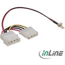 InLine Lüfter Adapterkabel 3pol Lüfter an...