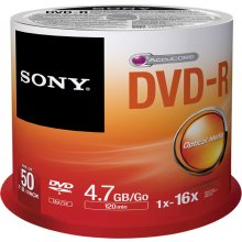 Диски Sony DVD-R 4,7 GB | 16x [cake 50 pcs]