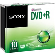 Диски Sony DVD+R 4,7 GB | 16x [Slim чехол 10...