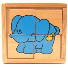 Brimarex Wooden elephant blocks