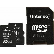 INTENSO Micro SDHC UHS-I 2x32GB Premium...
