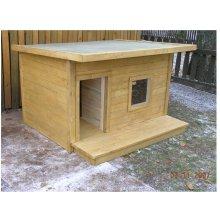 Inpuit terrassiga soojustatud koerakuut BOSS
