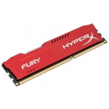 Mälu KINGSTON DIMM 4GB PC12800 DDR3/FURY RED...