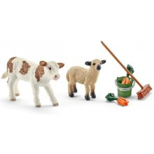 Schleich Farm Life Calf + Lamb + Accessory