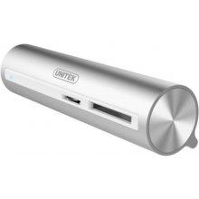 Unitek Hub TYP-C, 3x USB 3.0 + SD/microSD...