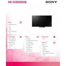 "Телевизор Sony 55"" LED KD-55XD9305B"