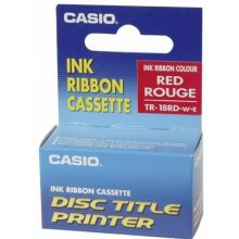 Casio TR-18 RD red Ink Ribbon Cassette