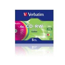 Диски Verbatim CD-RW VER 700MB 5pcs Slim SR...