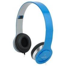 LogiLink Kopfhörer stereo 3,5mm&6,3mm sinine