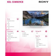 "Телевизор Sony 55""LED KDL-55W809CB"