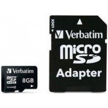 Mälukaart Verbatim microSDHC 8GB inkl...