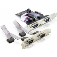 Delock PCI Expr Card 4x D-Sub9 ext (je 2 auf...