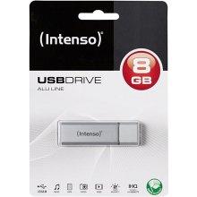 Mälukaart INTENSO AluLine 8GB hõbedane
