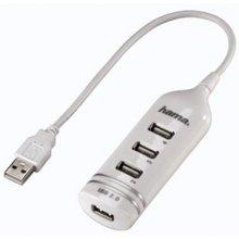 Hama USB Jagaja 4 port, valge