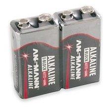 Ansmann 1x2 Alkaline 9V-Block punane-line