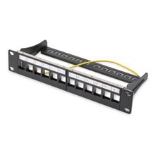 "DIGITUS Patch panel 10"" 12-port 1U modular..."