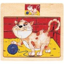 Brimarex Wooden puzzle Top Bright - cat 12...