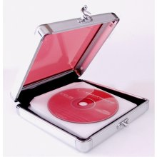ESPERANZA Case for 24 CD - Aluminum with red...