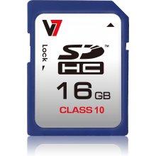 Mälukaart V7 SDHC 16GB, Secure digitaalne...