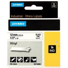 Dymo Tape Rhino 12mm x 5.5m, vinyl, black on...