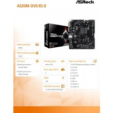 Emaplaat ASRock MB A320M-DVS R3.0 AM4 M-ATX...