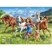 Castor 120 EL.Na Łące Dziewczynka Konie