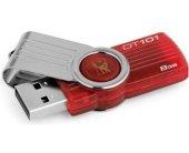 Mälukaart KINGSTON 8GB DataT 101 G2 punane