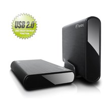 Fantec DB-ALU 2 black 3,5 USB 2.0