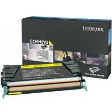 Тонер Lexmark C736H2YG, Laser, C736n...