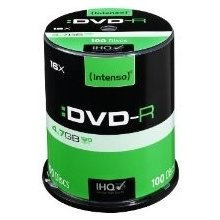 Диски INTENSO DVD-R 16x 4,7GB (100 Cake)