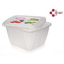 QUISELLE FRESH square container 1l 3p set