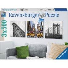 RAVENSBURGER RAVEN. 3X500 EL. Nowy Jo rk