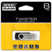 Флешка GOODRAM TWISTER 8GB чёрный USB2.0