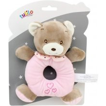 Axiom Rattle uus Baby Teddy bear pink 16 cm