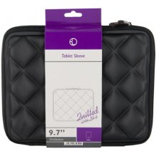 "4World Quilted Tablet Case 9.7"" Black"