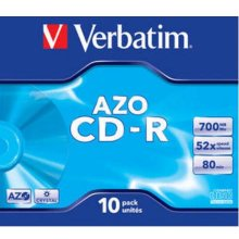 Диски Verbatim 1x10 Data Life plus CD-R 80...