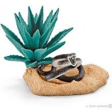 Schleich Wild Life чёрный mamba nest