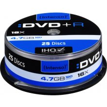 Toorikud INTENSO 1x25 DVD+R 4,7GB 16x Speed...