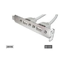 ACC Slot bracket 2xUSB2.0, 2x5-Pin, 0.2 m